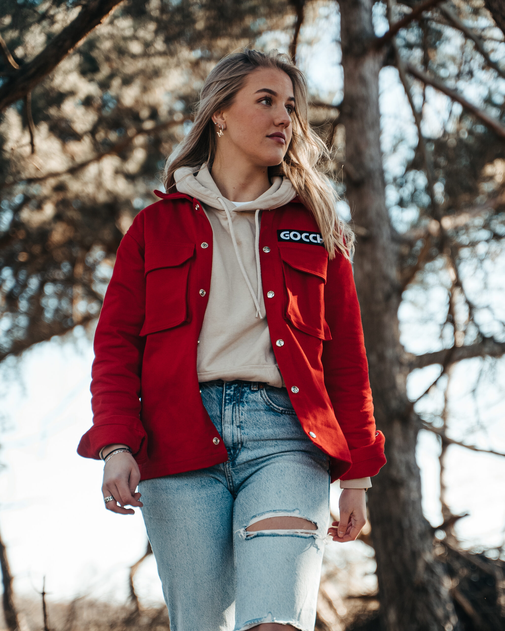 Cargo Jacket Red