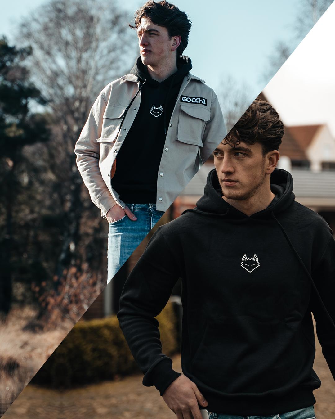 Cargo Khaki + Hoodie Black