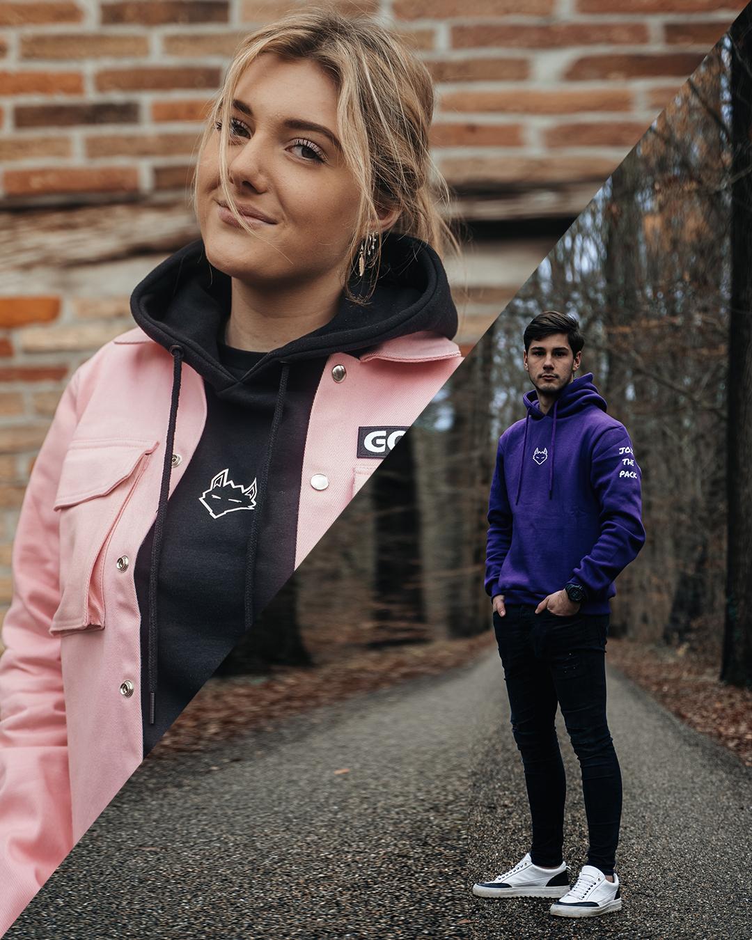 Combo deal: JTP Hoodie Purple + Cargo Jacket Baby Pink
