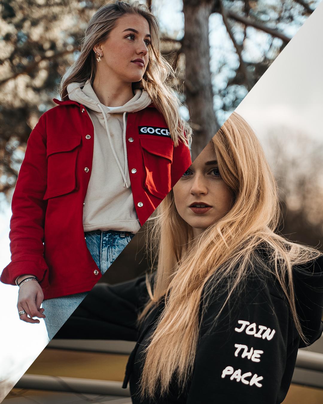 Combo deal: JTP Hoodie Black + Cargo Jacket Red