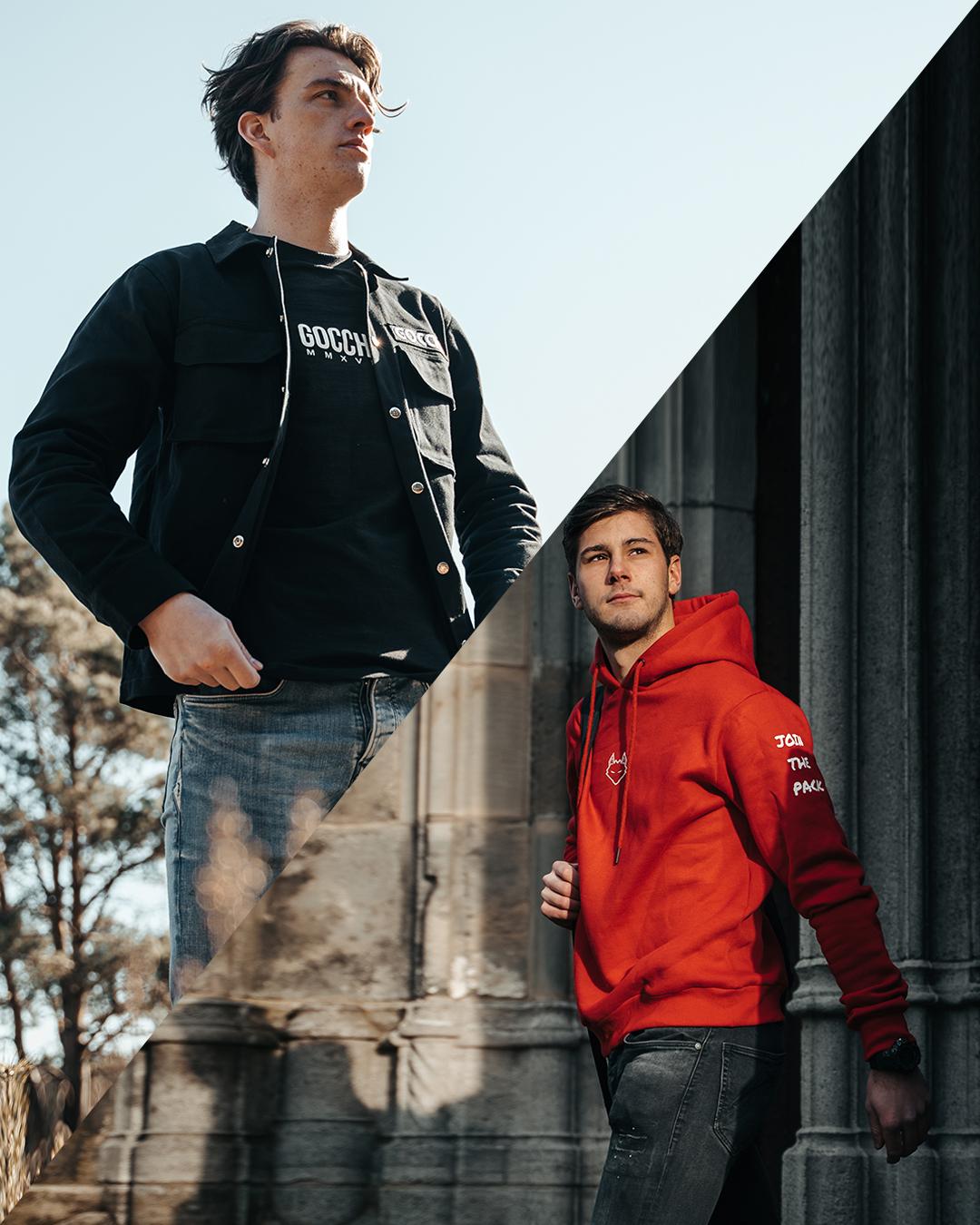 Combo deal: JTP Hoodie Red + Cargo Jacket Black