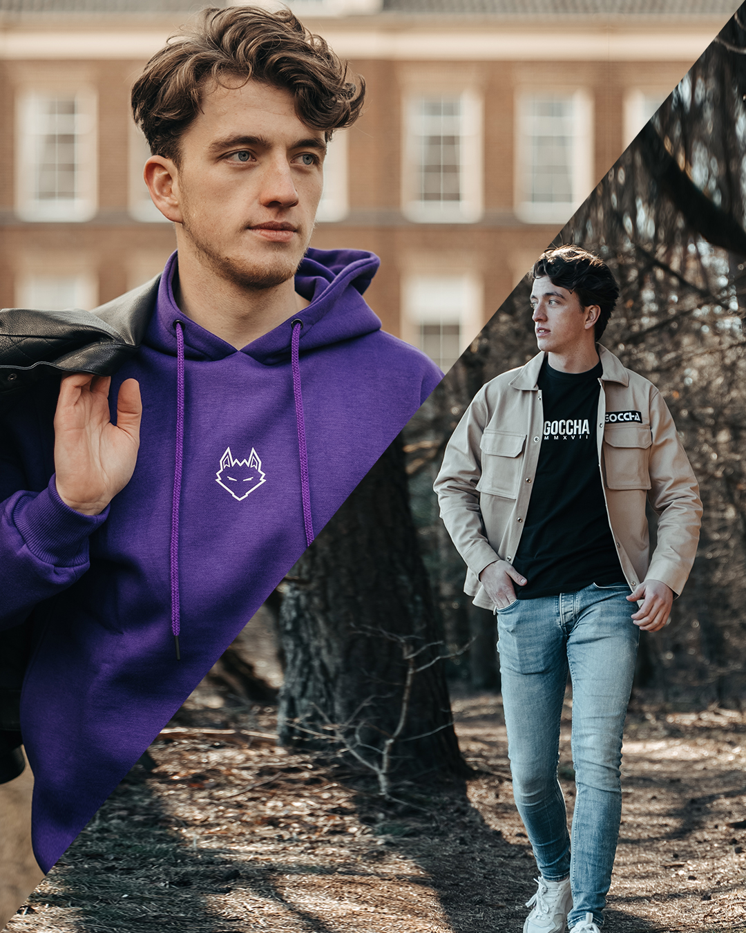 Combo deal: JTP Hoodie Purple + Cargo Jacket Khaki